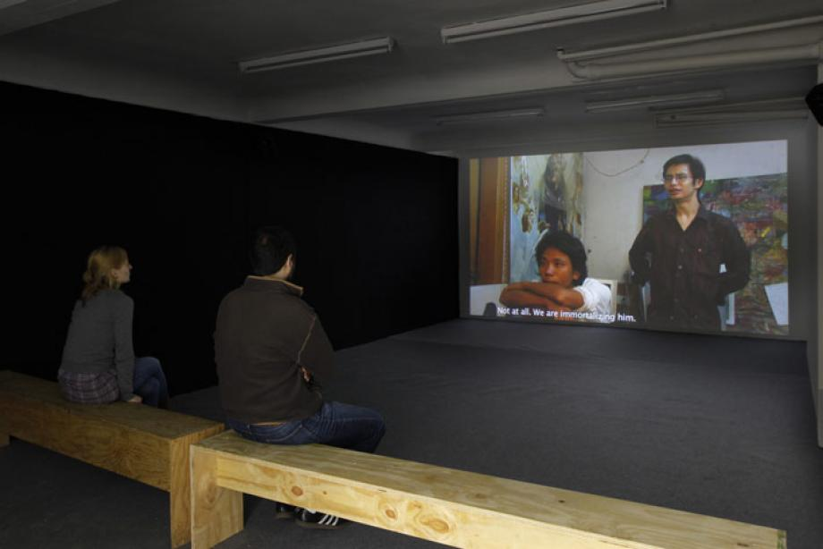 Installation view, Sascha Pohle, Reframing the Artist, 2010, photo: Cem Yücetas