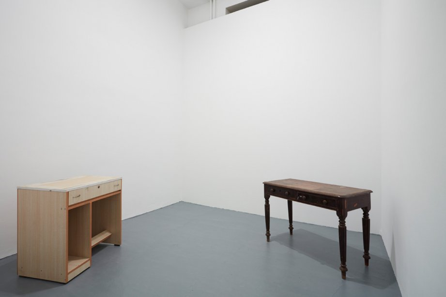Installation View, Desire Machine Collective, Table 1999/ Table 1967, basis 2015, photo: Günther Dächert