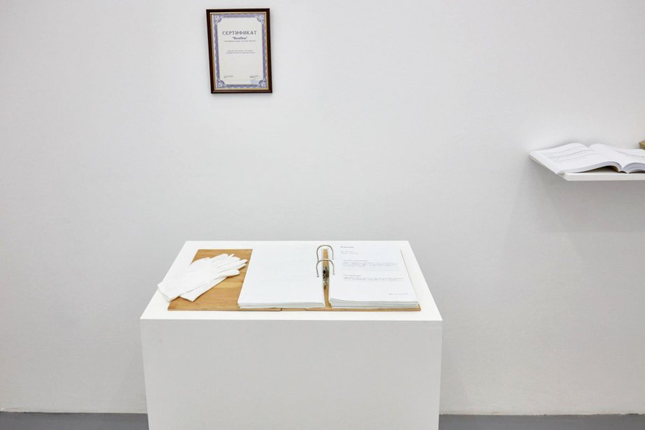 Bouillon Group, What is the meaning of Vladikavkaz and who is Vladimir?, 2015, basis, installation view, 2018, photo: Günther Dächert
