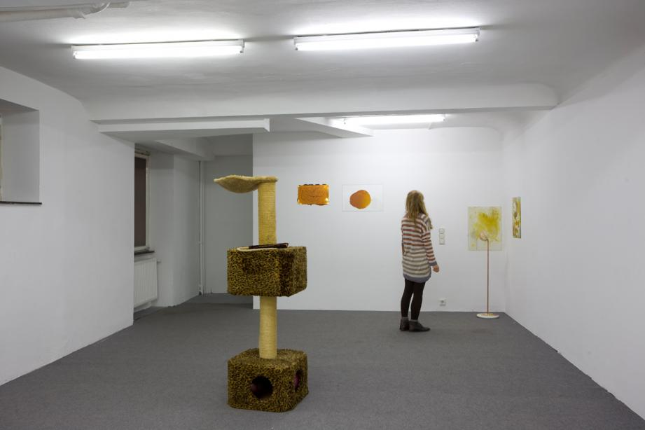 Installation view Olga Pedan - Eat, Pray, Love, basis 2011, photo: Cem Yücetas