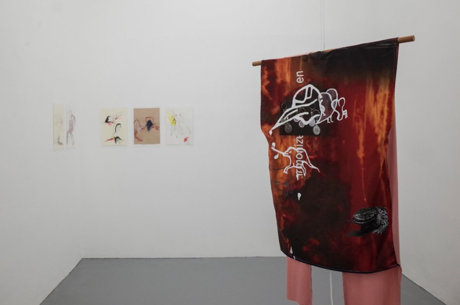 Ani Schulze, Montur #3 and Durst, installation view basis