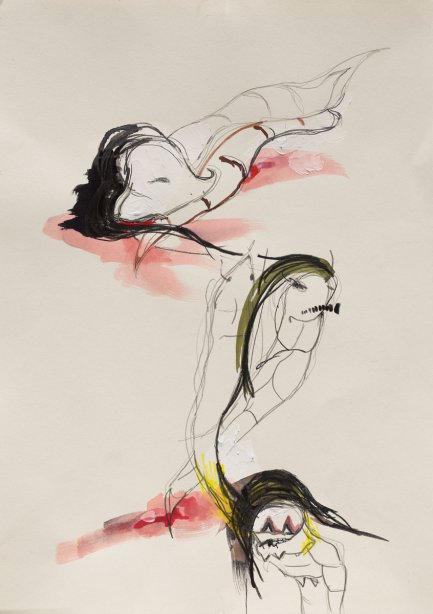Ani Schulze, Durst, series of drawings, 2020, copyright the artist
