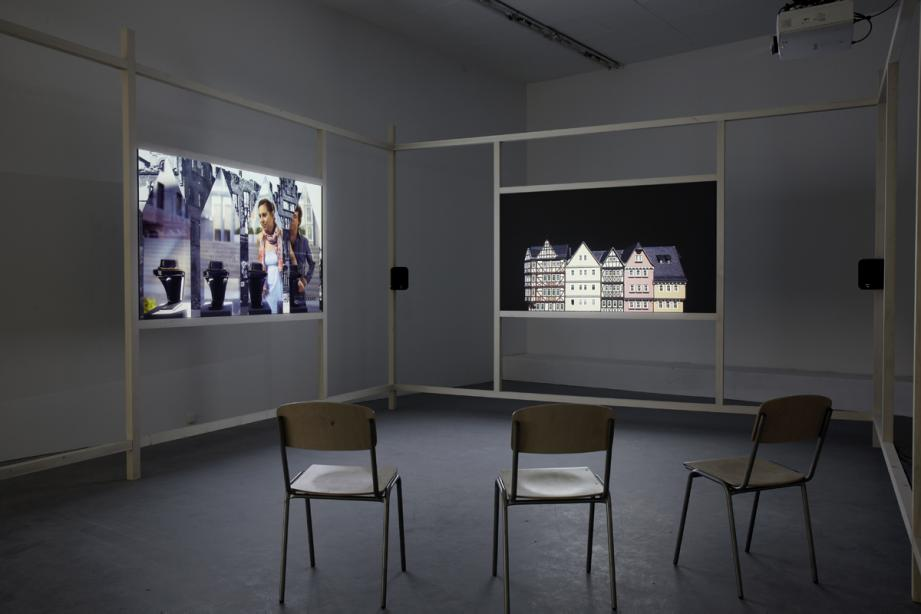 "Installation View, ""Container. A video installation by Rebecca Ann Tess"", basis 2013, photo: Rebecca Ann Tess"