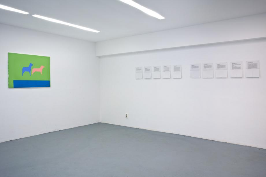 "Installation view, ""Practicalities (La vie matérielle)"", basis 2013, photo: Cem Yuecetas"