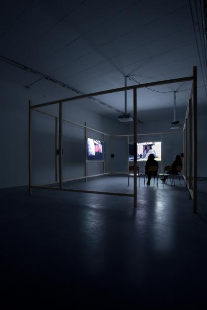 "Installation View, ""Container. A video installation by Rebecca Ann Tess"", basis 2013, photo: Lena Dittelmann"