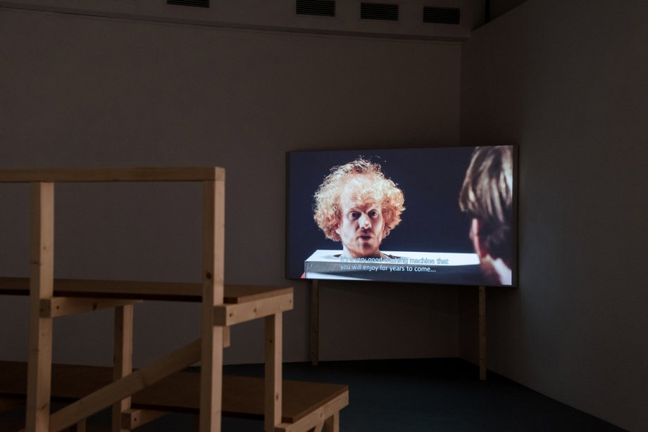 Installation view: Rumors of Glory, Feiko Beckers, A conversation is a risk to lose your own opinion (2015), basis 2017, Foto: Frithjof Kjer