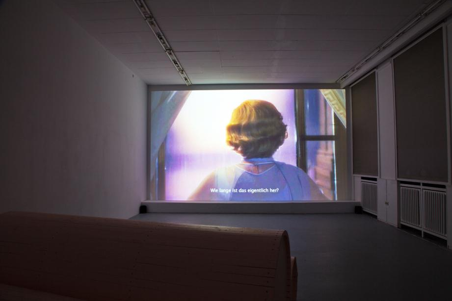 "Installation View, on display ""Sommer-Screening"": Eli Cortiñas, basis 2014, photograph: Amin Weber"