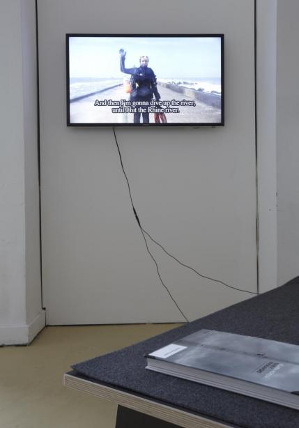 installation view, on display: Klara Hobza, basis 2014